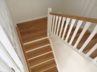 Tallowwood treads and handrail, with painted risers and balustrades